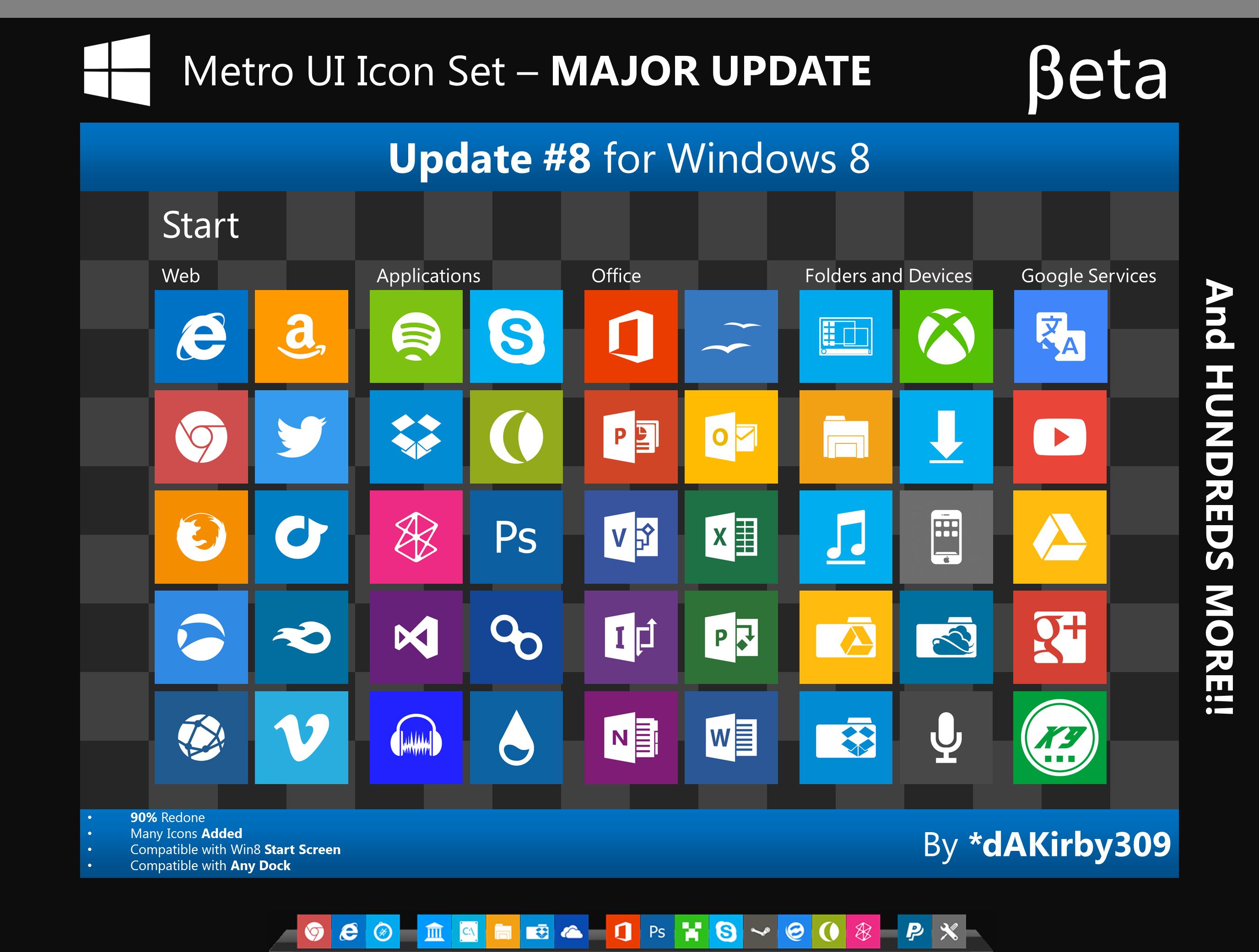 600 Iconos Estilo Metro Windows 8 Para Descargar ITank Tanque De Ideas