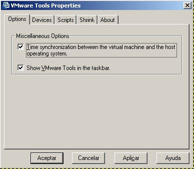 vmware tools properties windows